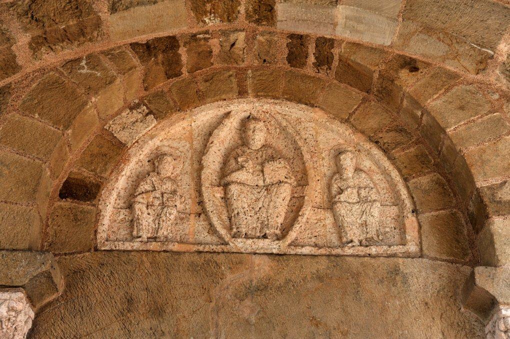 Mont-Saint-Vincent - Eglise Saint-Vincent (XIIe siècle) - Le tympan