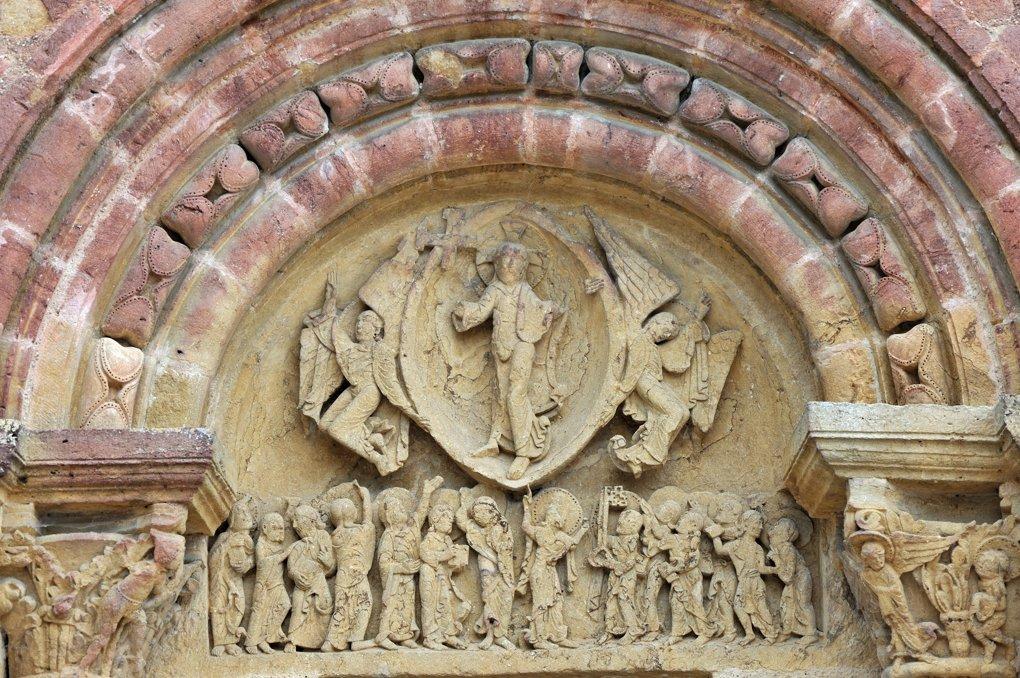 Montceaux-l'Etoile - Eglise Saint-Pierre-et-Saint-Paul - Le tympan (v. 1125)