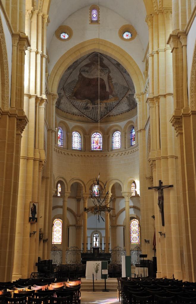 Paray-le-Monial - Priorale Notre-Dame - Le choeur