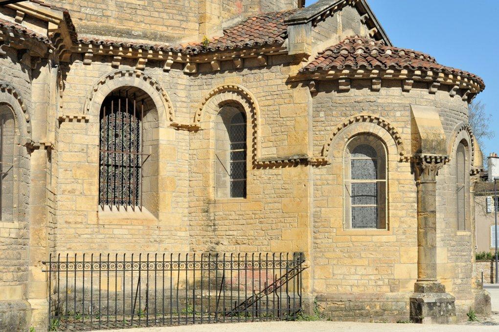 Paray-le-Monial - Ancienne priorale Notre-Dame - Chapelle axiale au chevet
