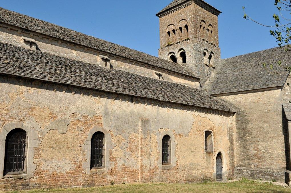 Sennecey-le-Grand - Eglise Saint-Julien (XIe-XIVe siècle) - Bas-côté sud de la nef et clocher