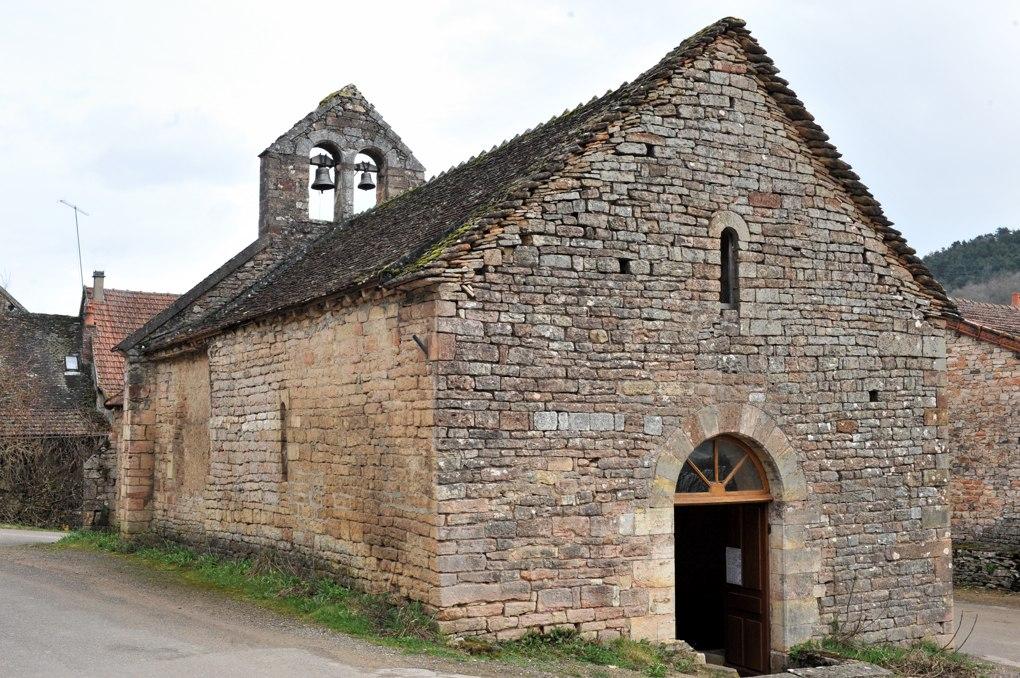 Burnand - Eglise saint-Martin (XIIe siècle) au hameau de Saint-Martin de Croix, commune de Burnand