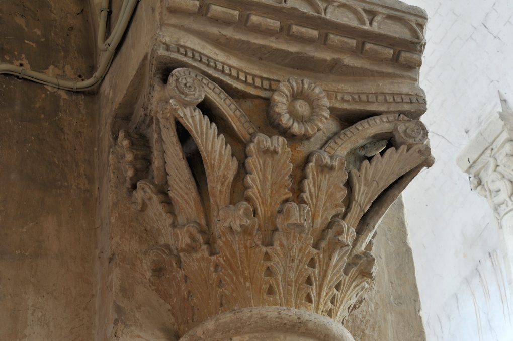 Saint-Pierre-le-Moûtier - Priorale Saint-Pierre - Chapiteau décoratif (nef)