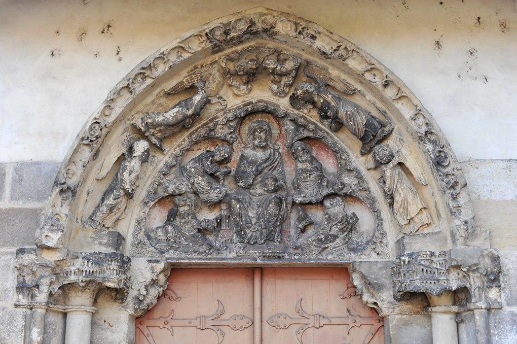 Saint-Pierre-le-Moûtier - Ancienne priorale Saint-Pierre - Portail nord (fin XIIe siècle)