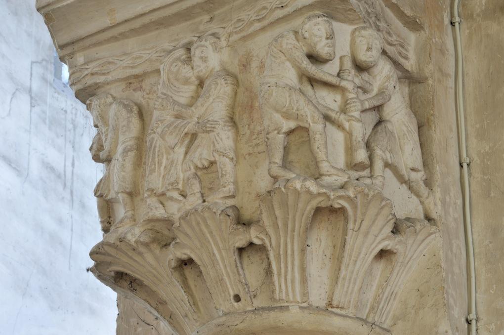 Saint-Pierre-le-Moûtier - Priorale Saint-Pierre - Même chapiteau dans la nef