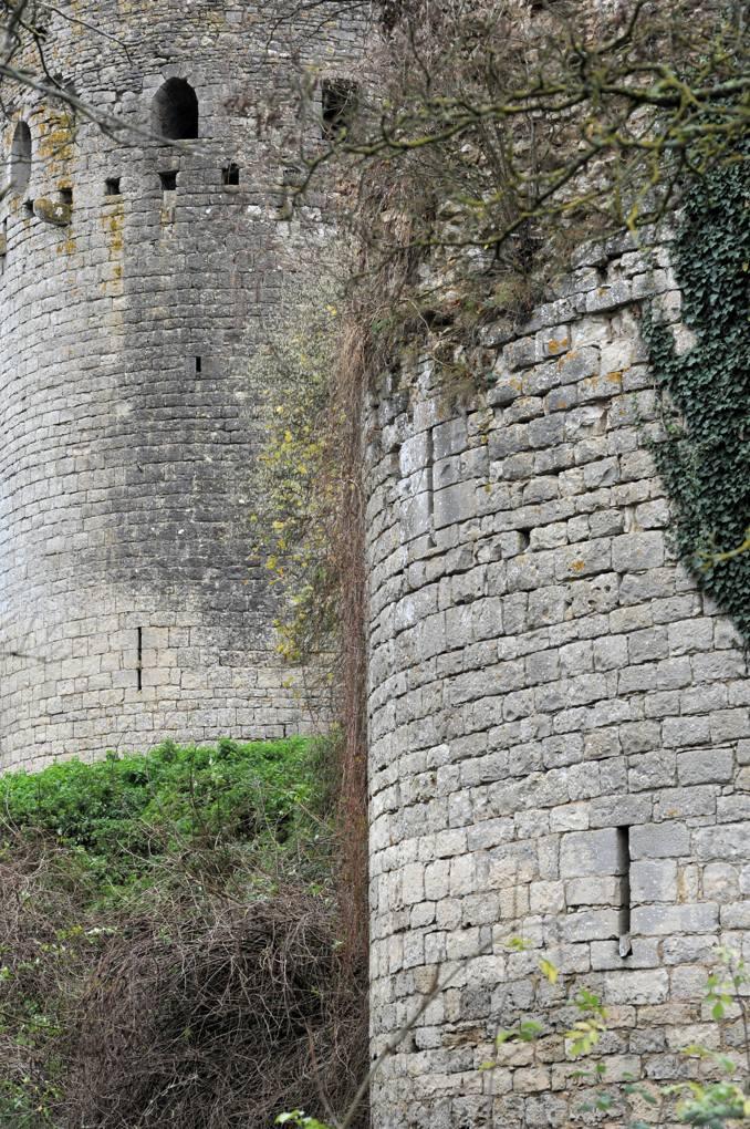 Luthenay-Uxeloup - Château de Rosemont - Tours de l'enceinte