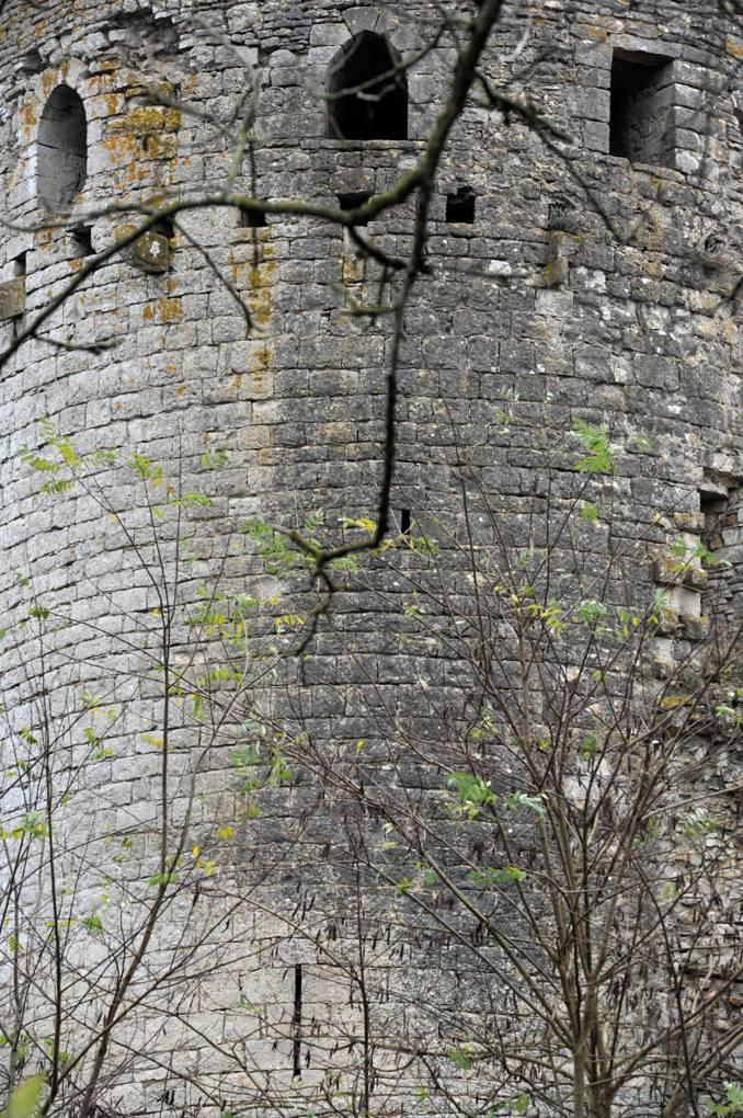 Luthenay-Uxeloup - Château de Rosemont - Une tour de l'enceinte