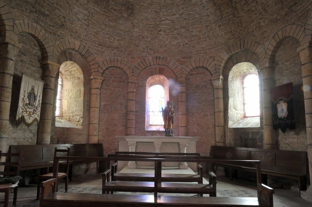 Luthenay-Uxeloup - Eglise Saint-Aignan (XIIe siècle) - Abside
