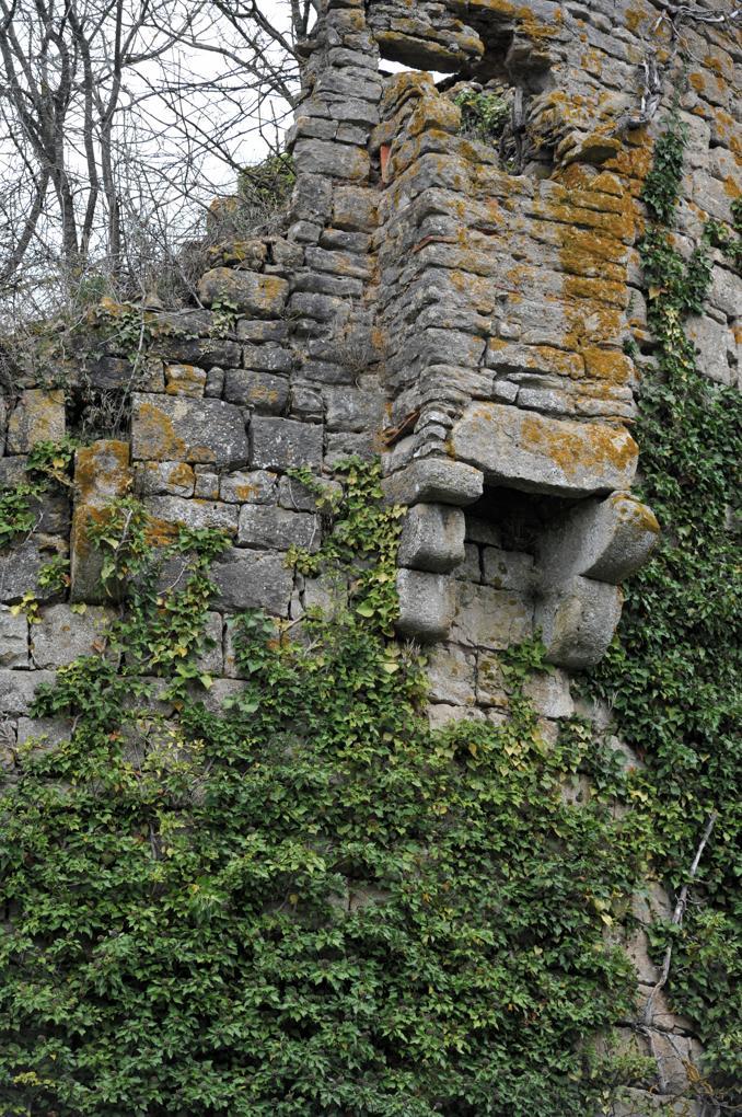 Luthenay-Uxeloup - Château de Rosemont - Bretèche (XIVe siècle)