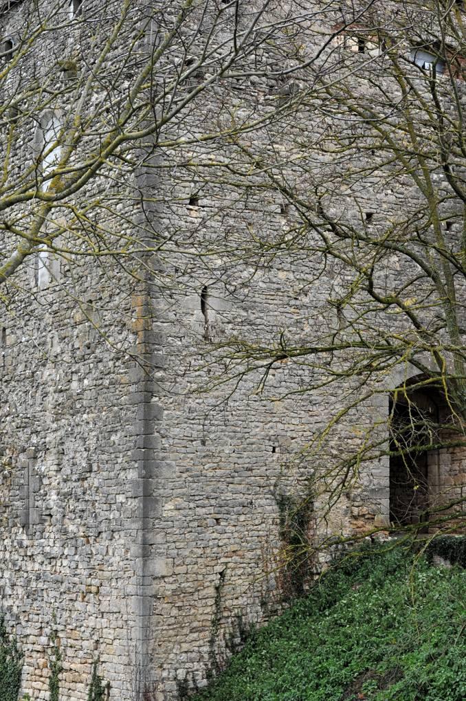 Luthenay-Uxeloup - Château de Rosemont (XIIIe-XIVe siècle) - Tour d'entrée