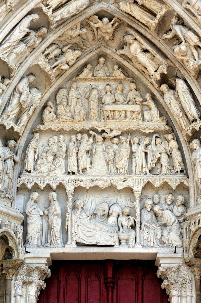 Auxerre - Cathédrale Saint-Etienne (XIe-XVIe siècle) : portail sud