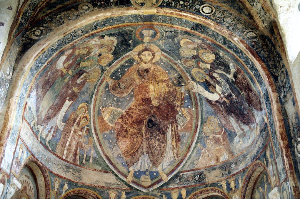 Berzé-la-Ville - Chapelle des Moines : fresques de l'abside (début du XIIe siècle)