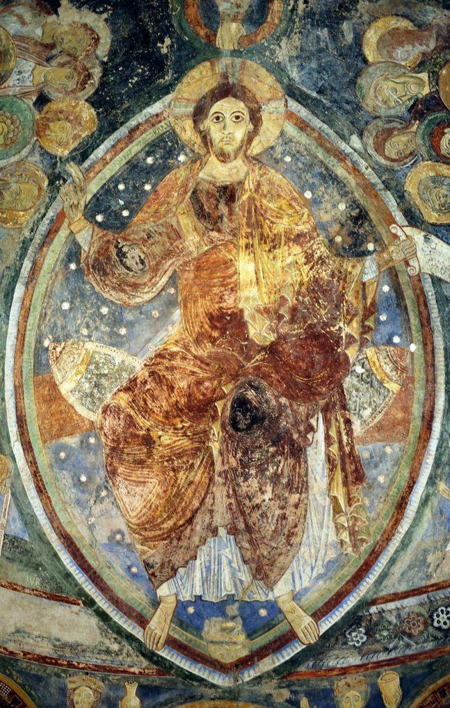 Berzé-la-Ville - Chapelle des Moines : le Christ Pantocrator (début du XIIe siècle)