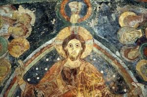 Berzé-la-Ville (71) - Chapelle des Moines : fresques de l'abside (début du XIIe siècle)