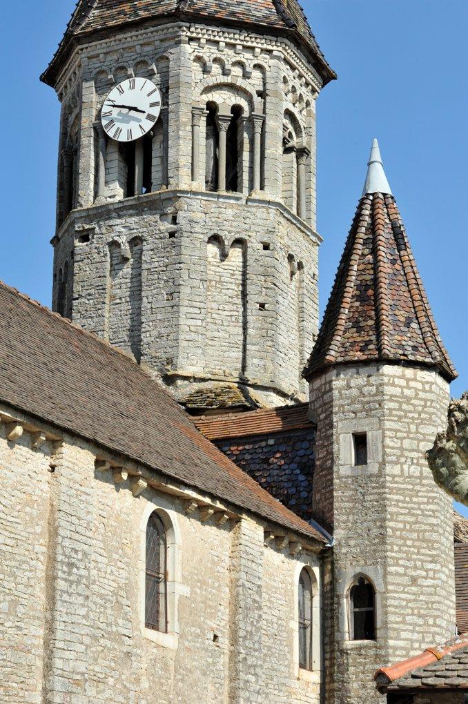 Clessé - Eglise Notre-Dame (XIIe siècle) : le clocher octogonal