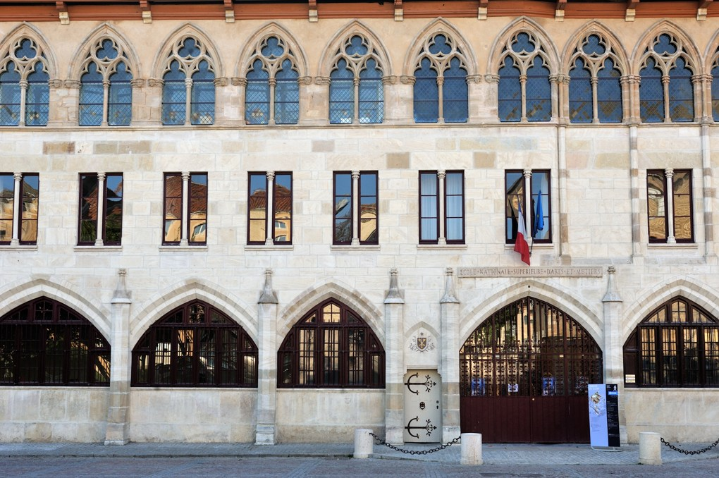 """Cluny - Abbaye Saint-Pierre-et-Saint-Paul - Façade dite """"du pape Gélase"""" (bâtie entre 1295 et 1308)"""