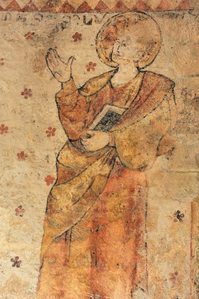 Saint-Marcelin-de-Cray - Eglise Saint-Paul (XIIe siècle) : fresques