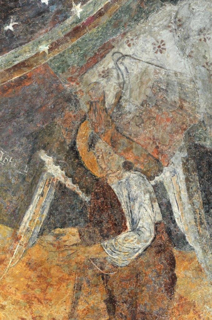 Le Villars - Eglise Sainte-Marie-Madeleine : fresques de l'abside (v. 1120), un archange
