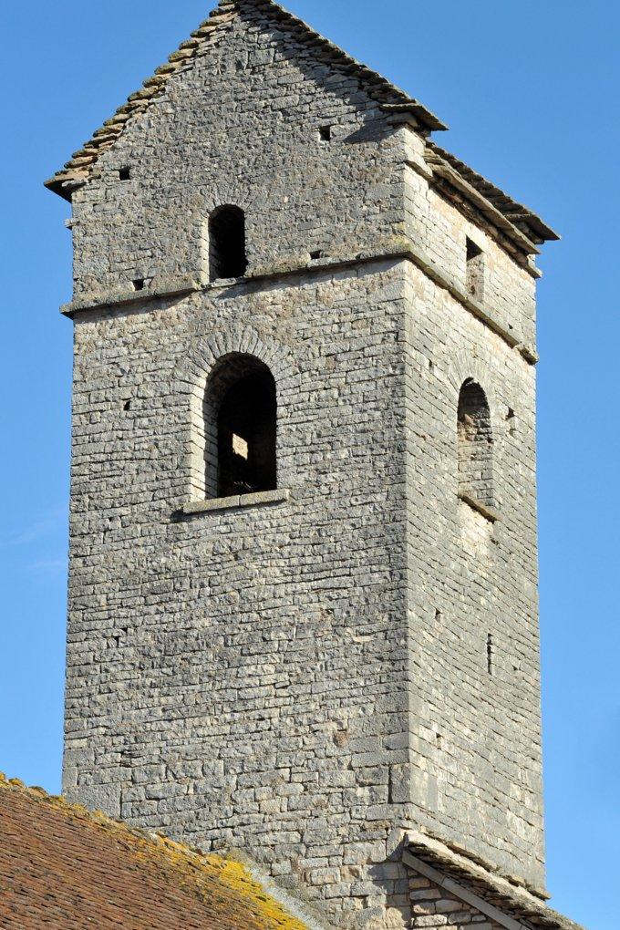 Chissey-lès-Mâcon - Hameau de Lys - Eglise Notre-Dame (1ère moitié du XIIe siècle) - Le clocher