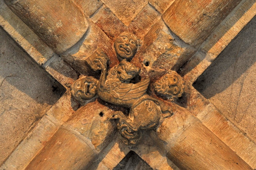 Mâcon - Vieux-Saint-Vincent - clé de voûte (début du XIIIe siècle)