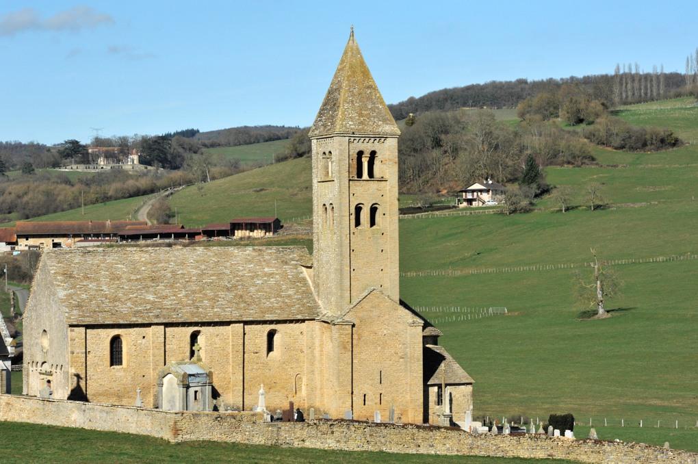 Mazille - Eglise Saint-Blaise (XIIe siècle)