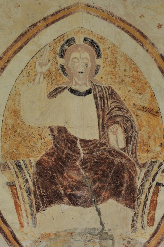 Saint-Père - Commanderie de Villemoison - Chapelle : fresque de l'abside (fin du XIIe siècle)