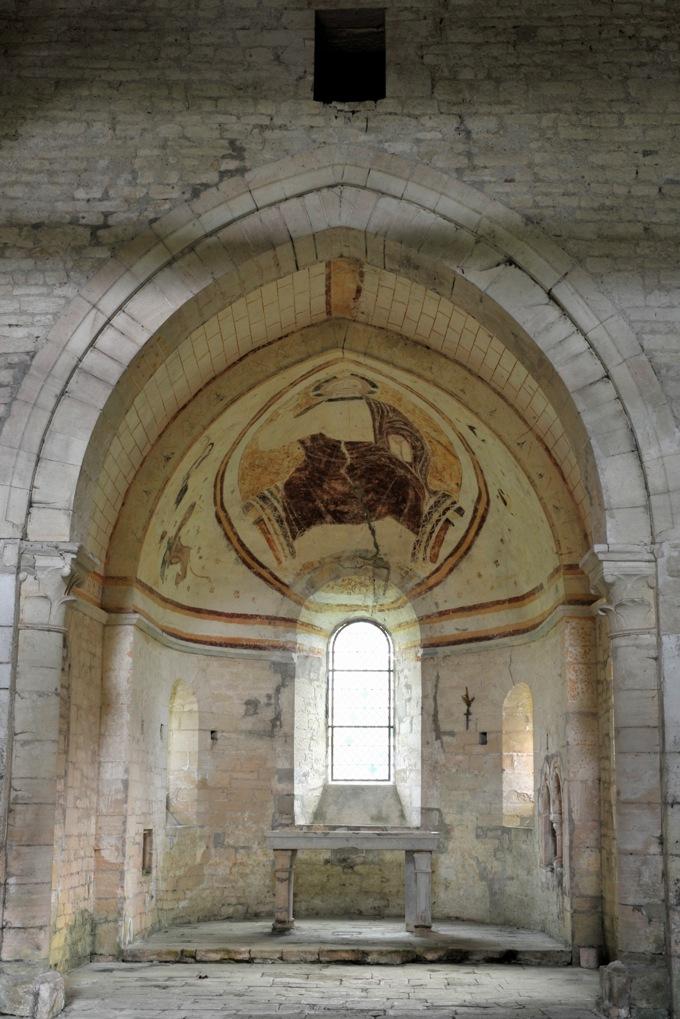 Saint-Père - Commanderie de Villemoison - Chapelle : l'abside (fin du XIIe siècle)