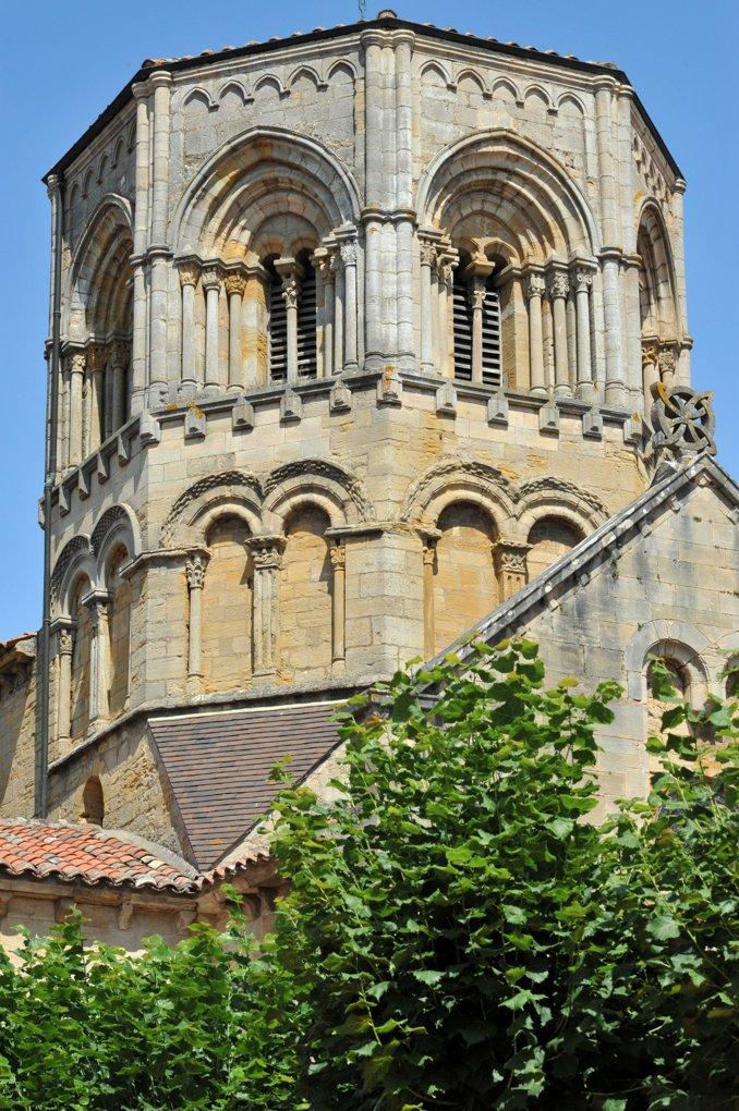 Semur-en-Brionnais - Ancienne collégiale Saint-Hilaire (XIIe siècle) - Le clocher octogonal