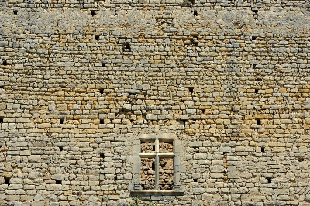 Semur-en-Brionnais - Le Château Saint-Hugues - Appareil et fenêtre à meneau