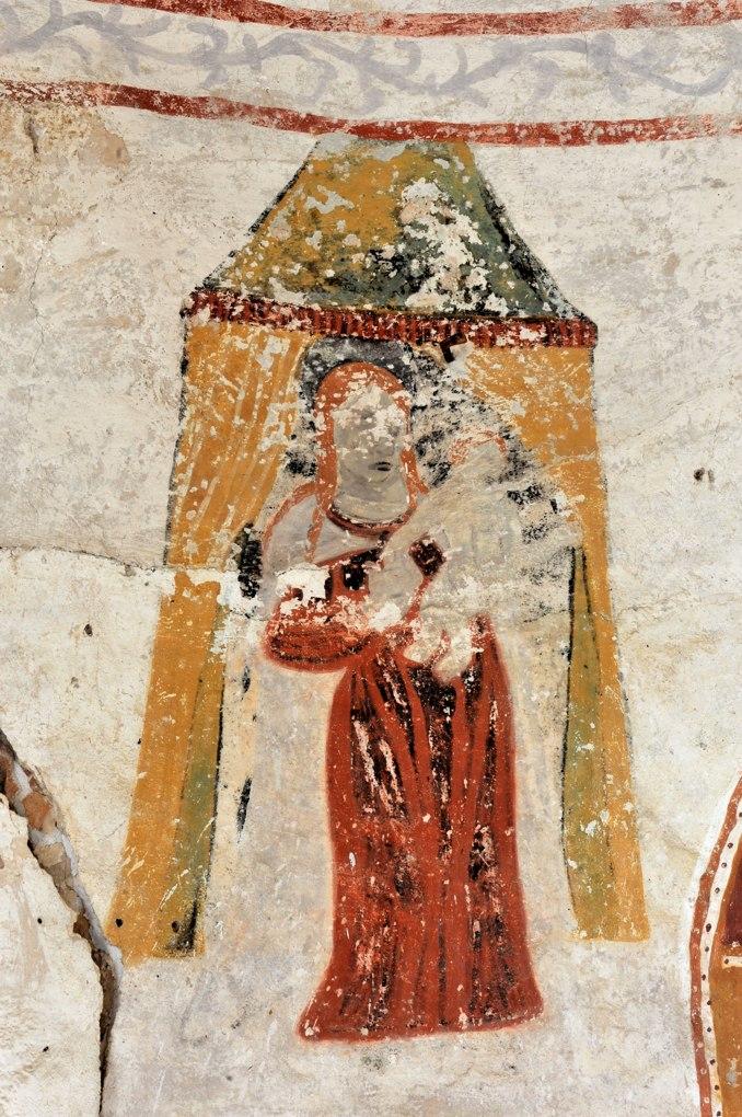 Semur-en-Brionnais - Eglise Saint-Martin-la-Vallée (début XIIe siècle ?) : peintures murales (XVIe siècle)
