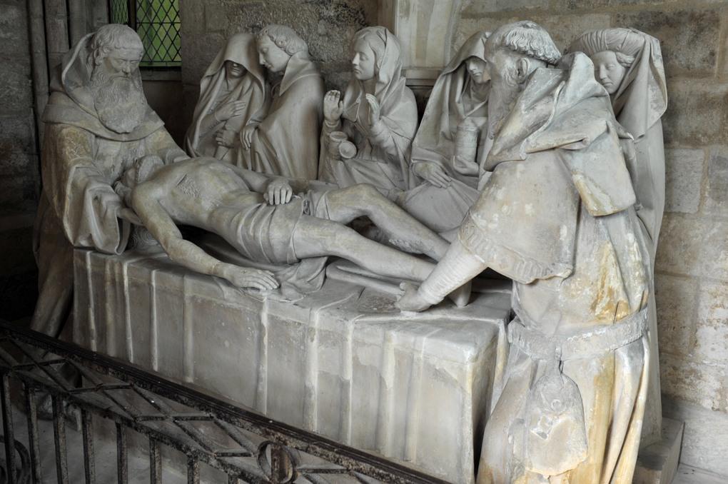 Tonnerre - Hôtel-Dieu Notre-Dame des Fontenilles (XIIIe siècle) : Mise au Tombeau (1454)