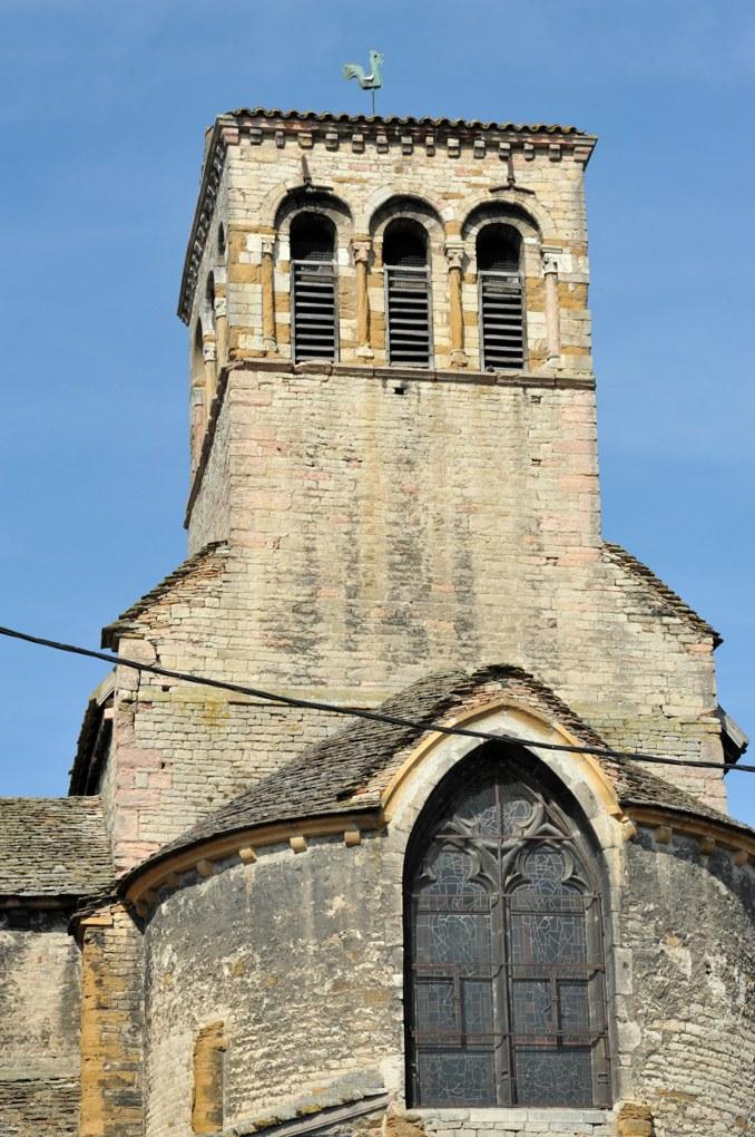 Tournus - Eglise Sainte-Madeleine (XIIe siècle) : le clocher