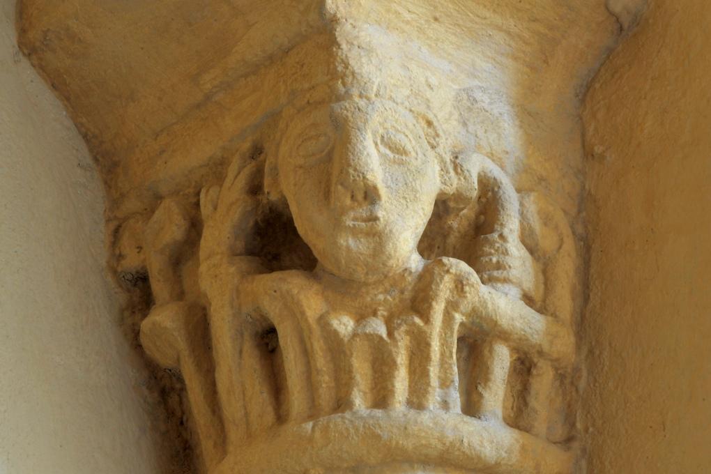 Vauban - Eglise Saint-Saturnin (XIIe siècle) - Chapiteau