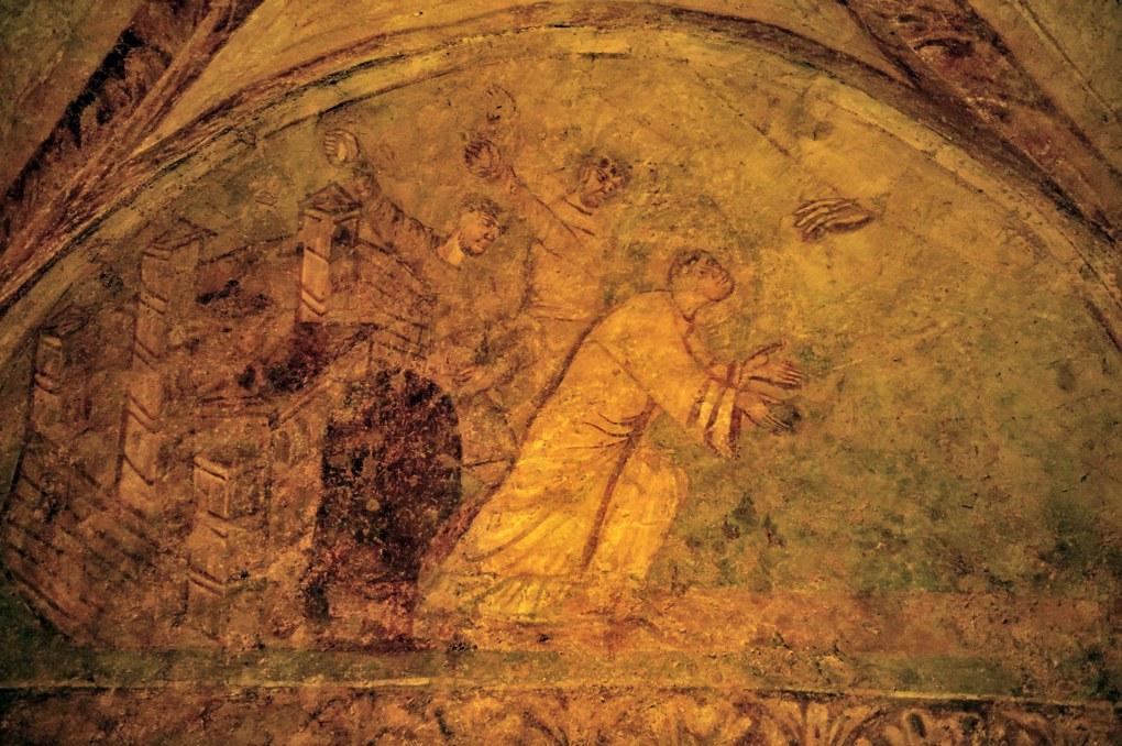 Auxerre - Cryptes Saint-Germain - La Lapidation de saint Etienne (v. 855)