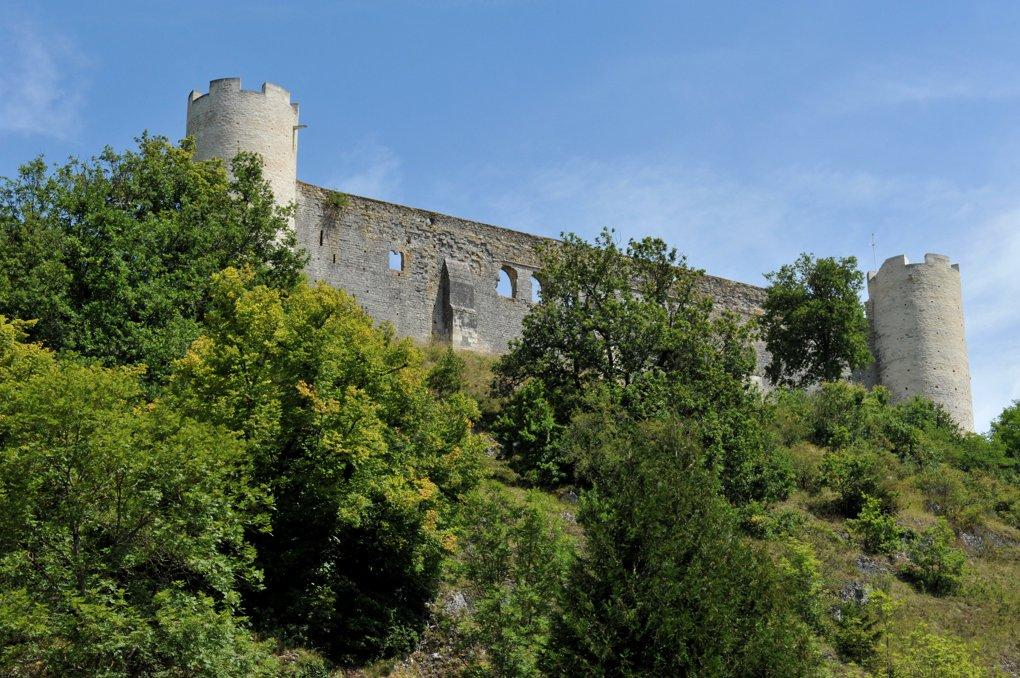 Druyes-les-Belles-Fontaines - château des comtes d'Auxerre et Nevers (milieu du XIIe au XVe siècle)