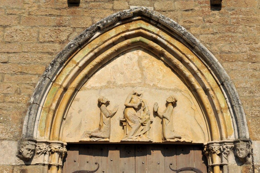 island - Chapelle templière du Saulce (XIIIe siècle) : le tympan du portail