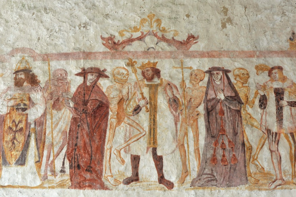 La Ferté-Loupière - Eglise Saint-Germain : la Danse macabre (v. 1500)