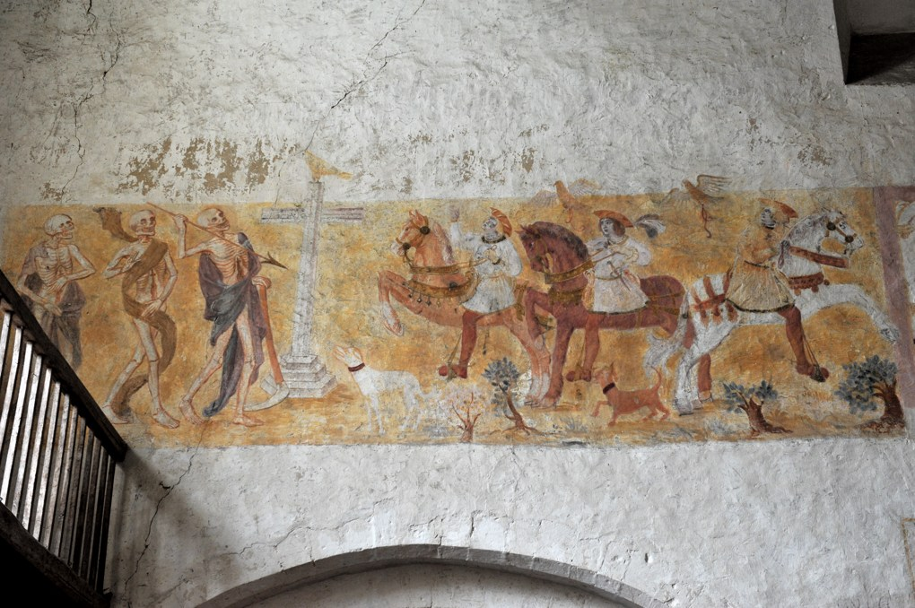 La Ferté-Loupière - Eglise Saint-Germain : Le Dict des trois morts et des trois vifs (v. 1500)