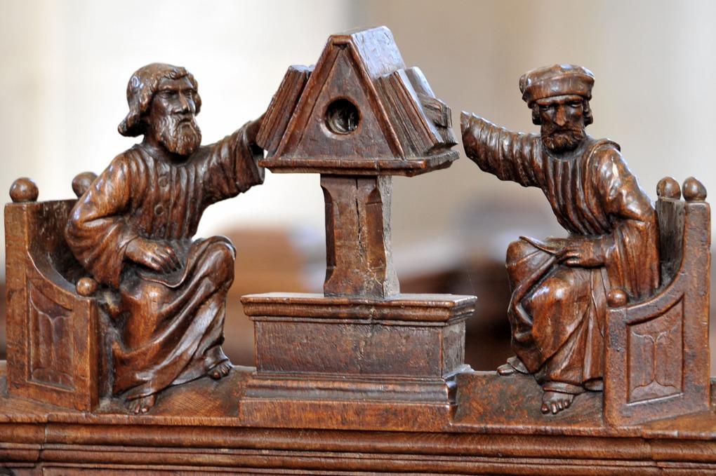 Montréal - Collégiale Notre-Dame (XIIe siècle) - Stalles : les lecteurs (v. 1522-1530)