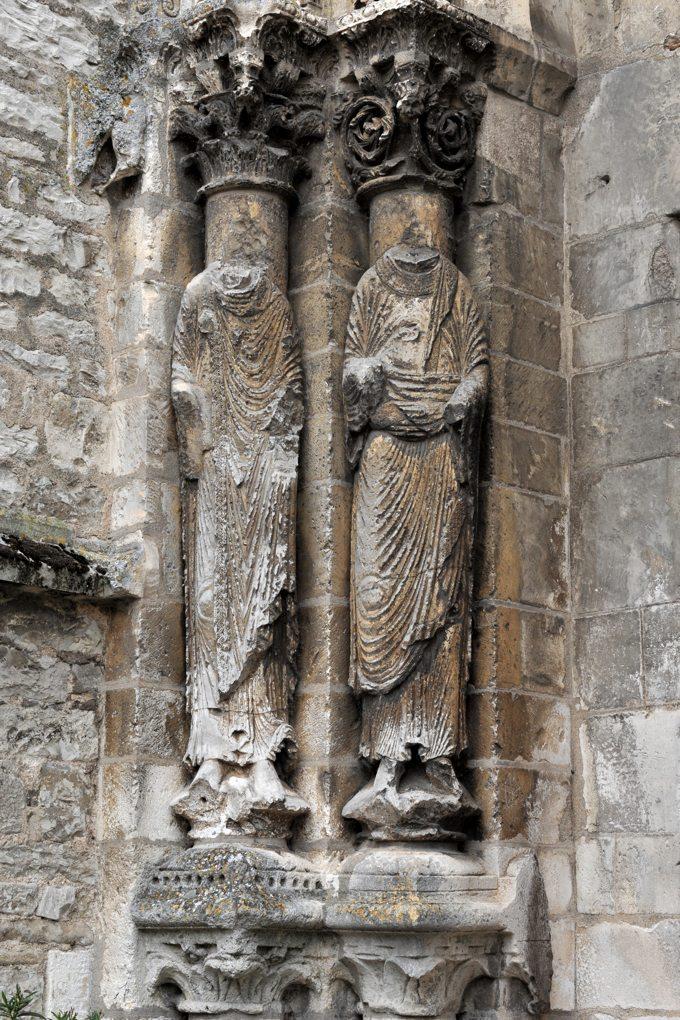 Vermenton - Eglise Notre-Dame - Portail ouest : statues-colonnes (v. 1180)