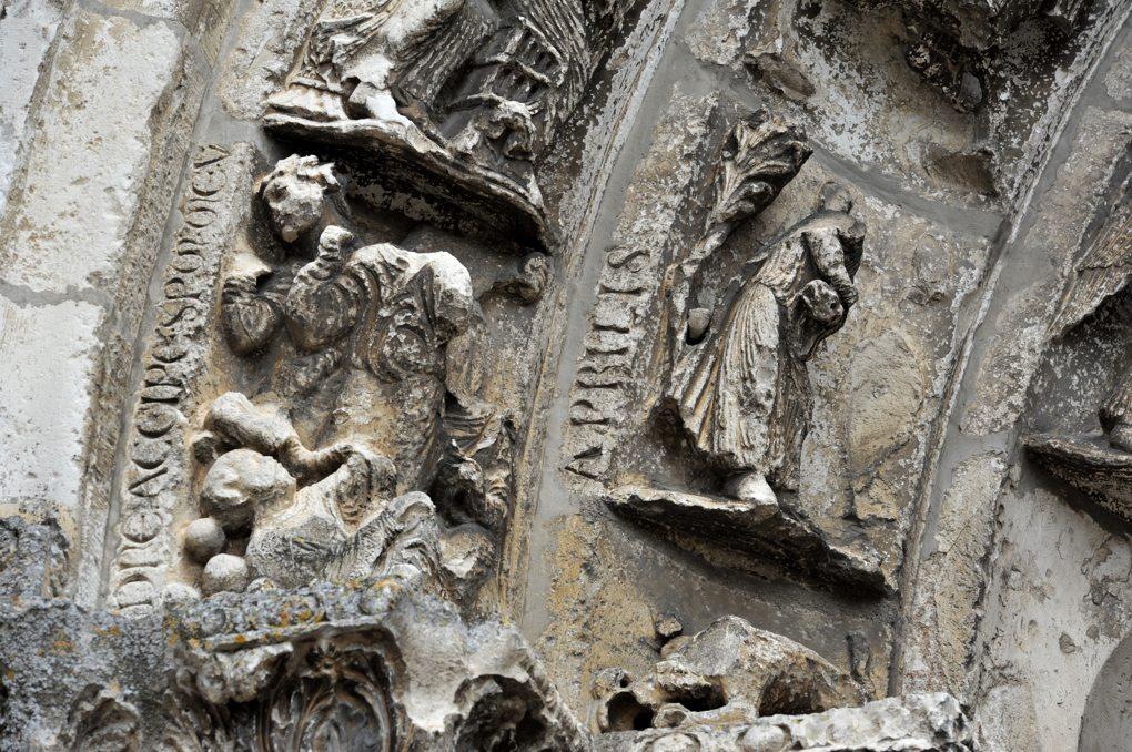 Vermenton - Eglise Notre-Dame : détail des voussures (mois d'avril)