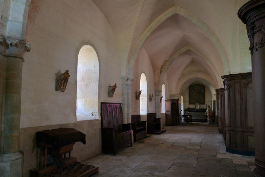 Asquins - Eglise Saint-Jacques : collatéral nord (début du XIIIe s.)
