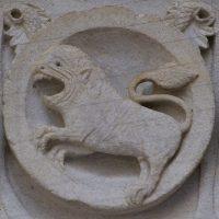 Autun - Tympan : le Lion