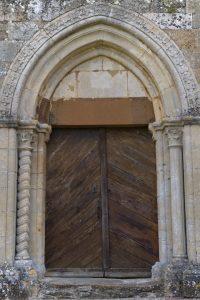 Bard-le-Régulier - Portail occidental (XIIe s.)