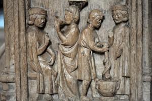 Bard-le-Régulier (21) - Stalles (v. 1350)