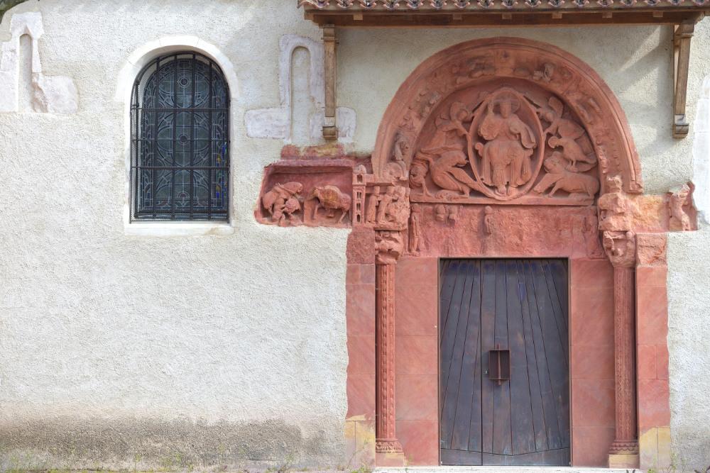 Chassenard - Eglise saint-Georges : le tympan (XIIe s.)