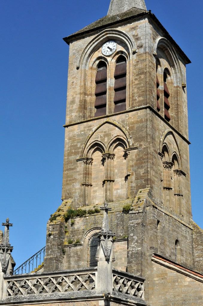 Pontaubert - Eglise de la Nativité : le clocher (v. 1200)