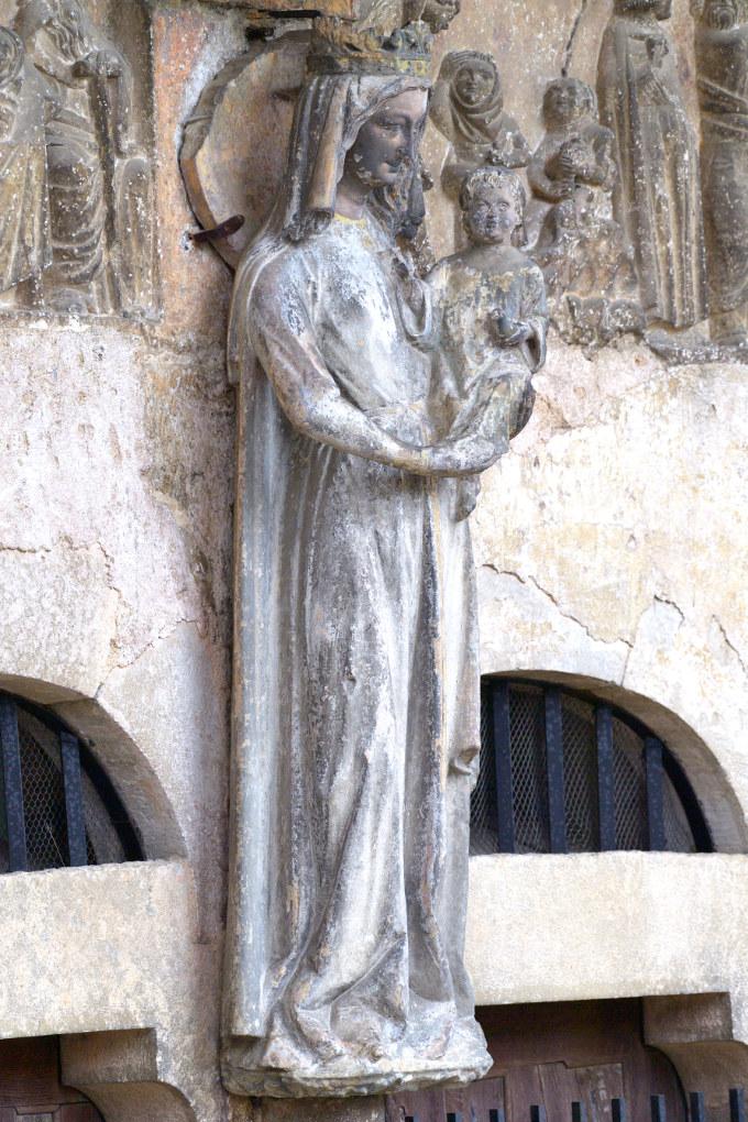 Rougemont - Eglise priorale : Vierge à l'Enfant (XIIIe s.)