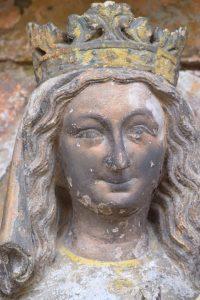 Rougemont - Eglise priorale : la Vierge (XIIIe s.)
