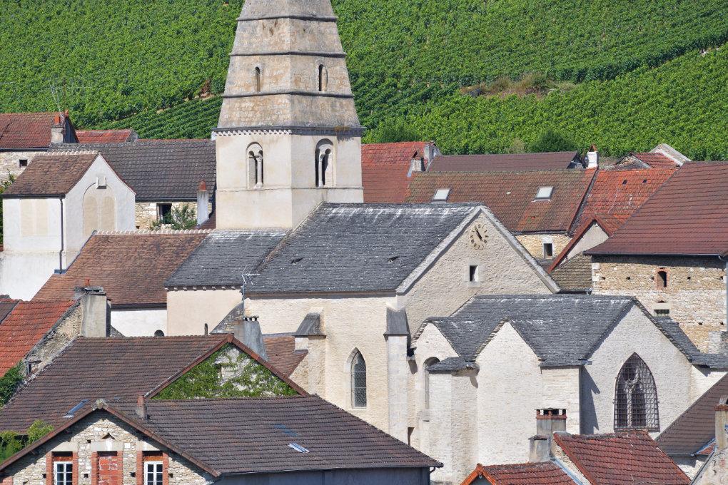 Saint-Aubin - L'église (Xe-XIIe-XVe s.)